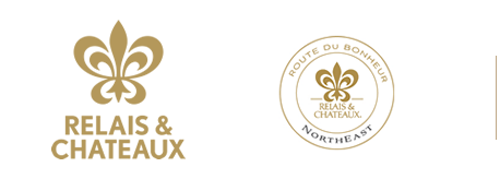 Relais & Chateaux logo, Route Du Bonheur, Northeast logo and image map